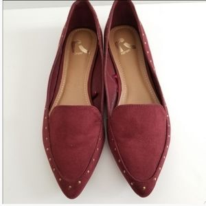 Report Suede Flats Red Size 7.5